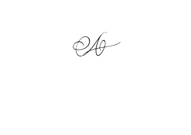 Calligraphie Tatouage Lettre A Excessial